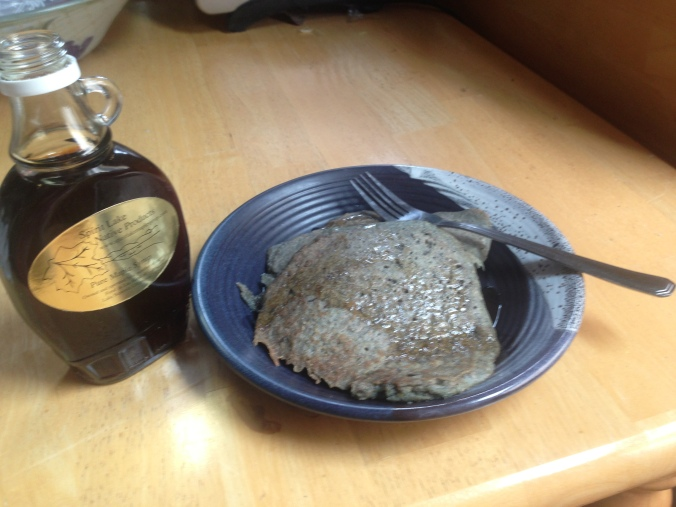 Blue Corn and Wild Rice Pancakes with Maple Syrup from Spirit Lake Native Products