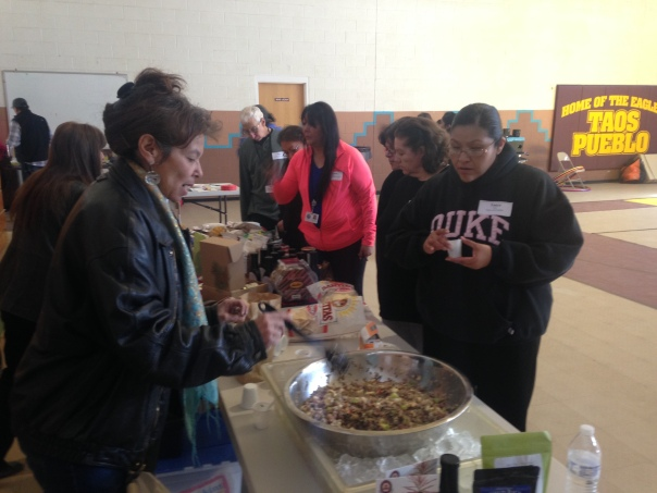Market event at Taos Pueblo's Community Center