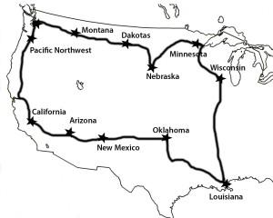 Roadtrip Route