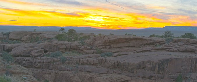 Amazing Sunset on the Navajo Reservation