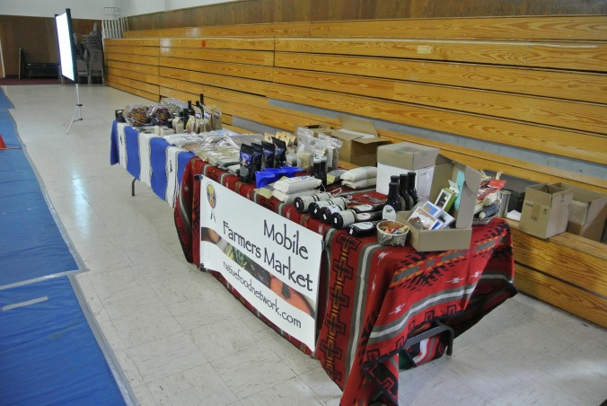 Market Setup at Coyote Valley Outreach Meeting