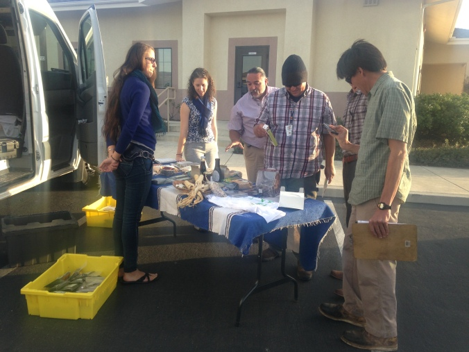 Showing the Products to the Chumash Environmental Staff